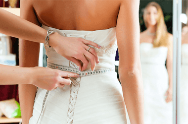 Wedding gown alteration