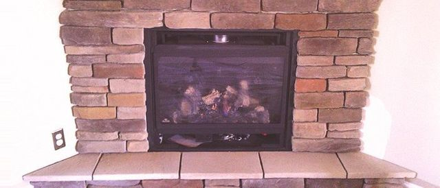 Newly built fireplace