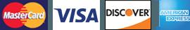 MasterCard, Visa, Discover, American Express
