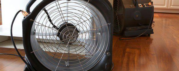 industrial fan for water damage in kitchen