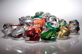 Recyclable aluminum cans