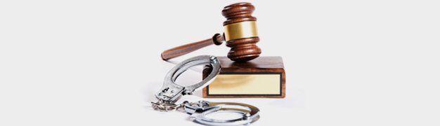 Handcuff and gavel