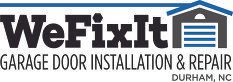 We Fix It Garage Door Installation and Repair Logo
