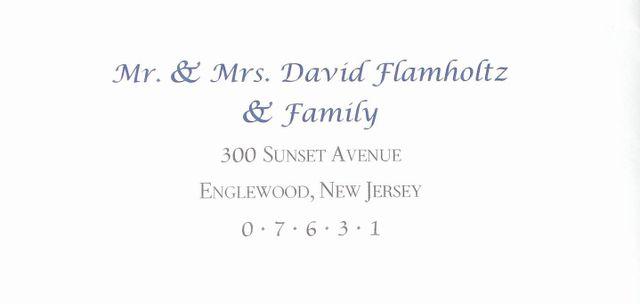 Envelope Addressing Wedding Invitation West Orange Nj