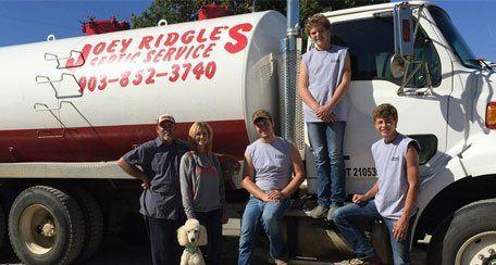 Joey Ridgle Septic Service Inc. Staffs