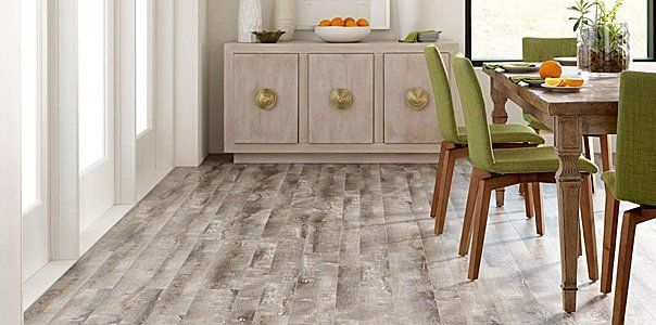 Luxury resilient tiles for dining area
