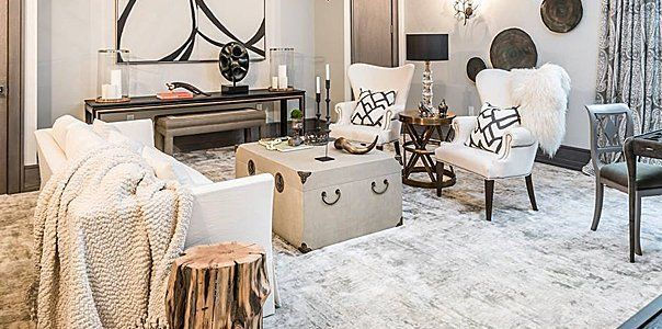 Luxury resilient flooring for living room