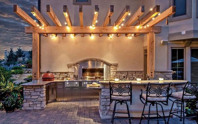 Outdoor Kitchen Waco TX | Outdoor Lighting, Patio ...
