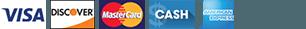 Visa Discover Mastercard Amex Cash
