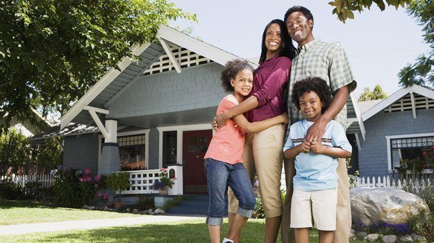 happy family with house asset