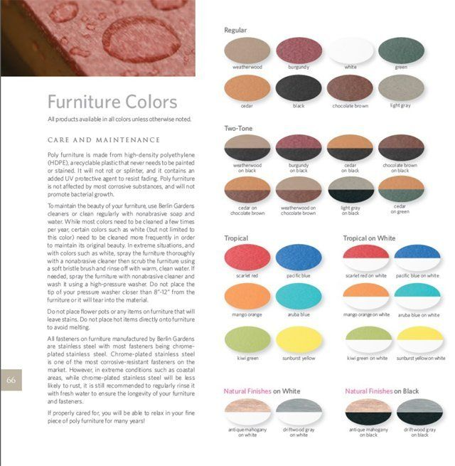 Furniture Color options