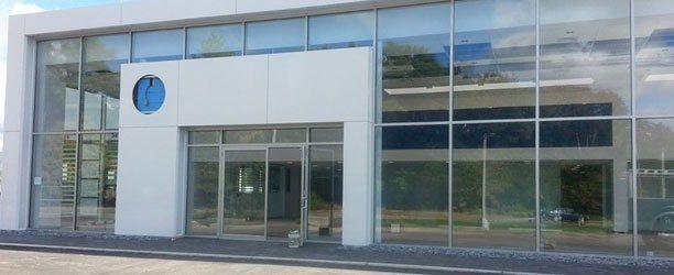 glass windows and door