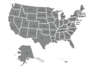 J. T. Unique Service Area Map