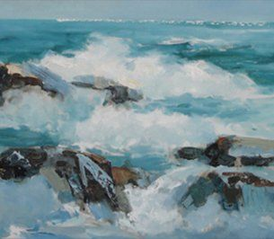 Painting of waves