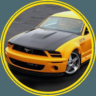 Yellow Mustang Car