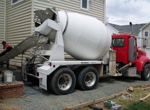 Concrete delivery truck