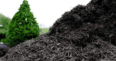Pile of black mulch, Glenn Mills PA
