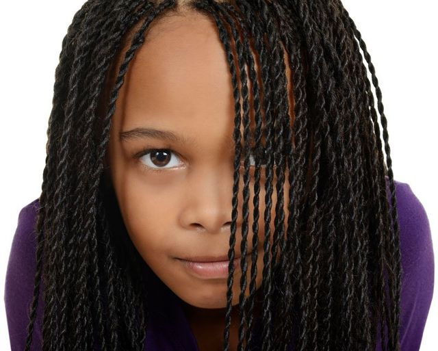 child with braids