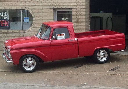 Red pickup truck for sale
