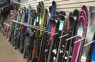 Ski and snowboards