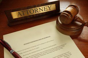 Attorney sign and gavel