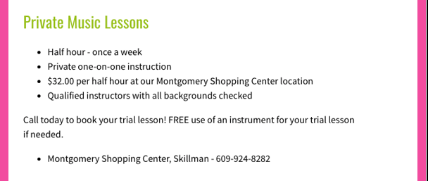 Looking for a satisfying hobby? Take music lessons at