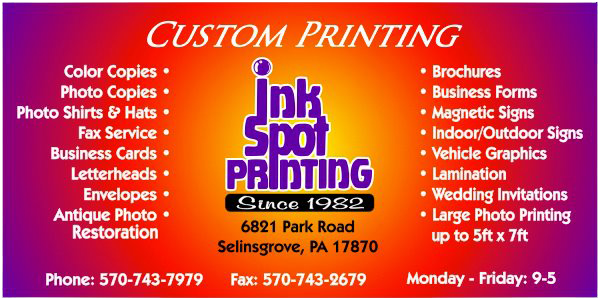 Ink spot printing business printing selinsgrove pa business cards brochures t shirts promotionals photo printing contact ink spot printing colourmoves