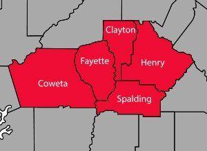 John Davis Heating & Air Service area map