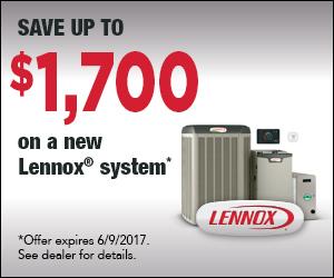 $1700 Rebate on New Lennox System