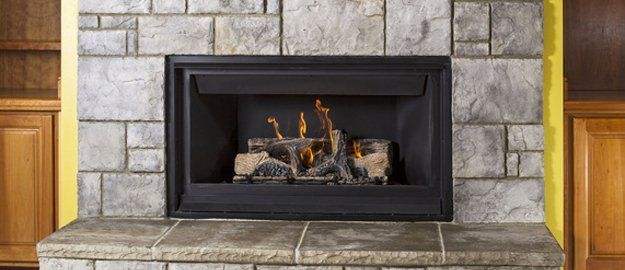 wooden fireplace insert