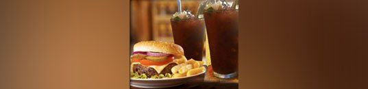 Burgers With Drinks