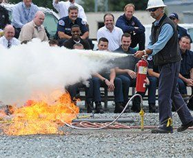 Fire training demonstration