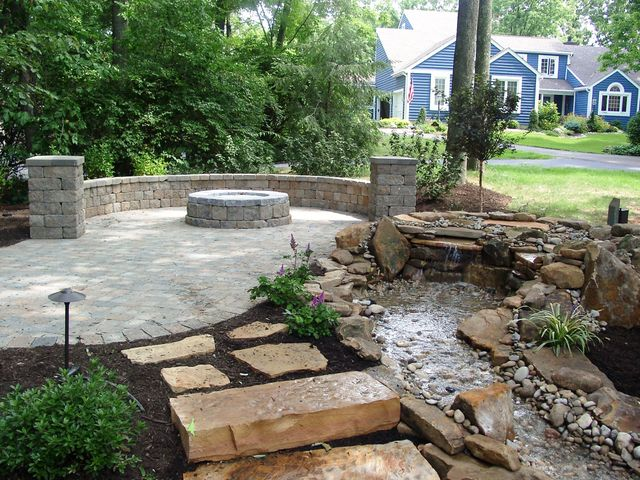 Patio with burn pit