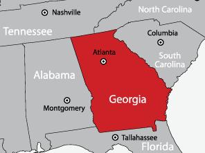 A Georgia Cutter, Inc - service area map