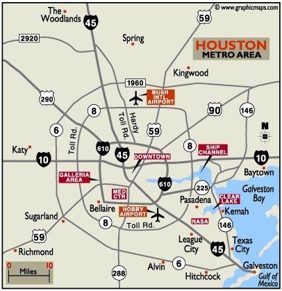 Ideas Map Of Houston Tx Airports On Emergingartspdxcom - Houston metro area map