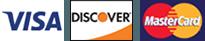Visa, Discover, MasterCard, Amex