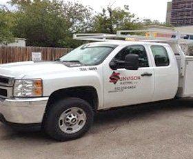 Sunvison electric service truck