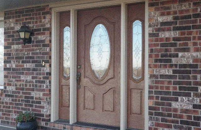 Newly installed front door