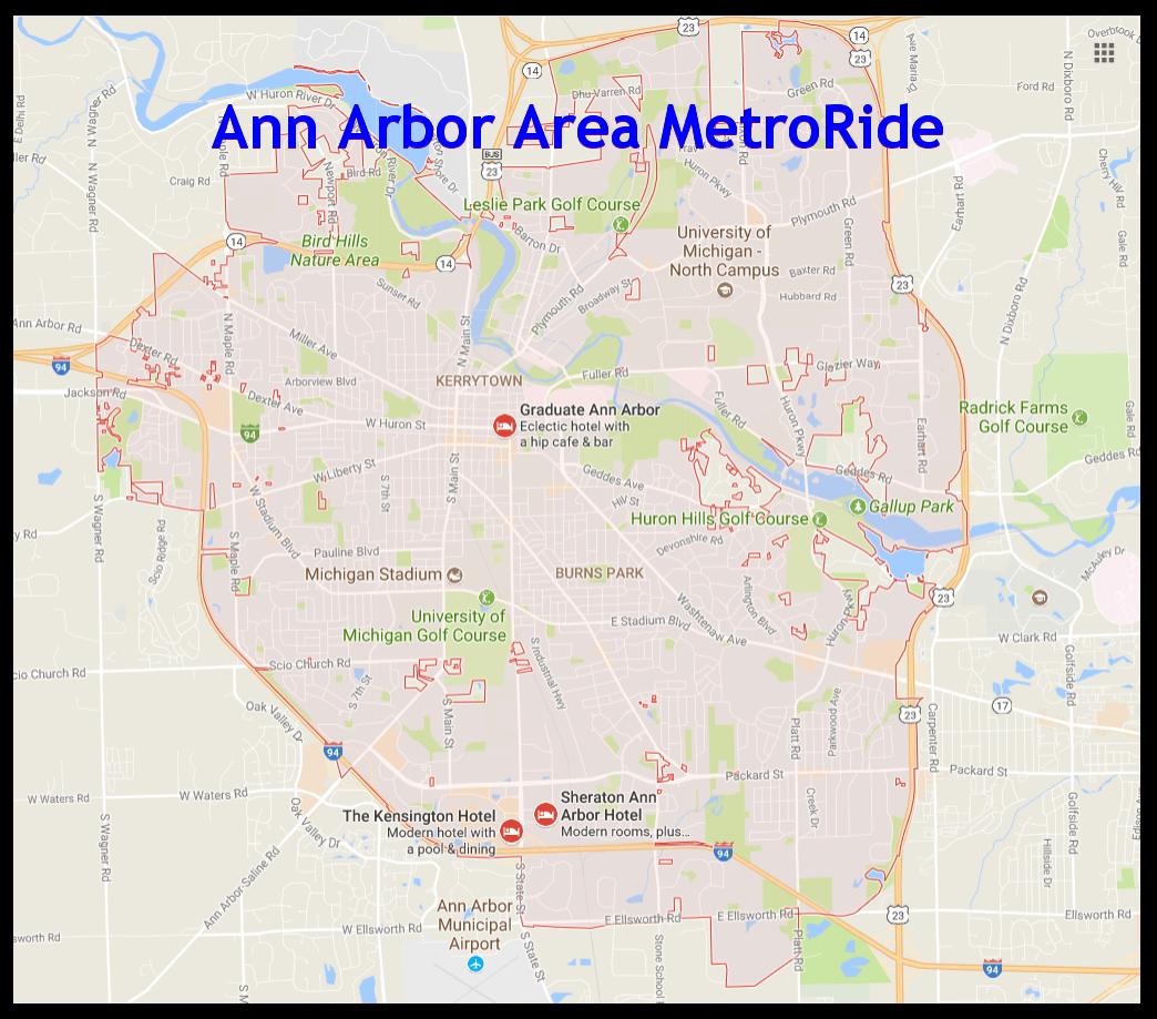 A2 Area MetroRide - 734-994-5984