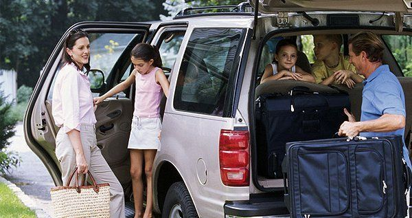 Family in an SUV