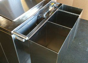 Clip on Stainless steel ingredient bins