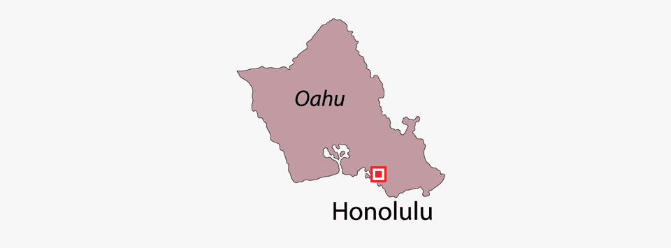 Bathtub & Shower Refinishing Co. of Hawaii Service Area Map