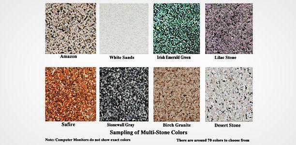 Sampling of multi-stone colors