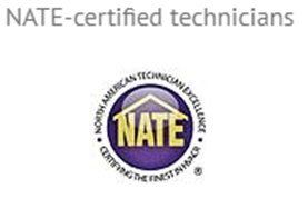 NATE-certified technicians