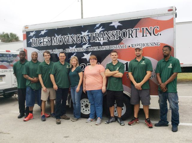 Staff of Rice's Moving & Transport, Inc.