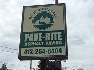 Pave-Rite sign board