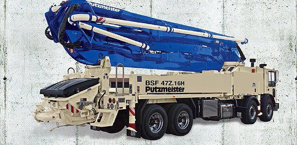 47Z-Meter, Truck-Mounted Concrete Boom Pump