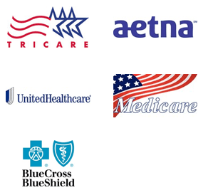 Tricare, Aetna, United Healthcare, Medicare, Blue Cross