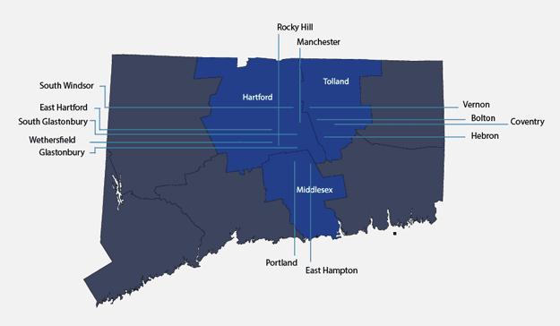 Mylo Plumbing & Heating - Service area map