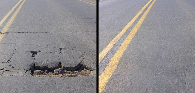 Asphalt pothole repair
